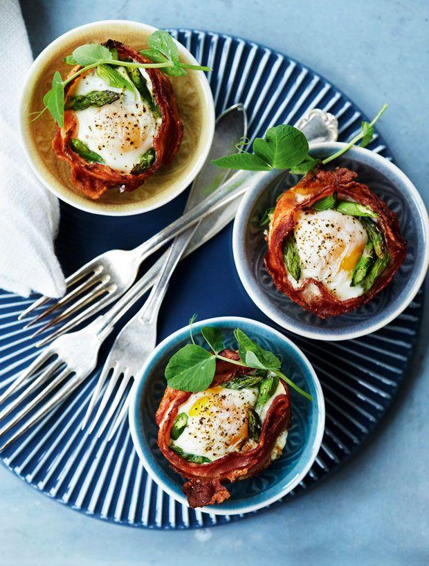 Brunch-æg med bacon og asparges - nemt og lækkert!