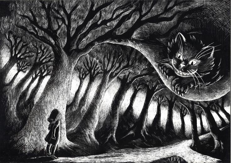 """""""Alice"""" cap VI, """"Incontro con il gatto del Cheshire"""""""