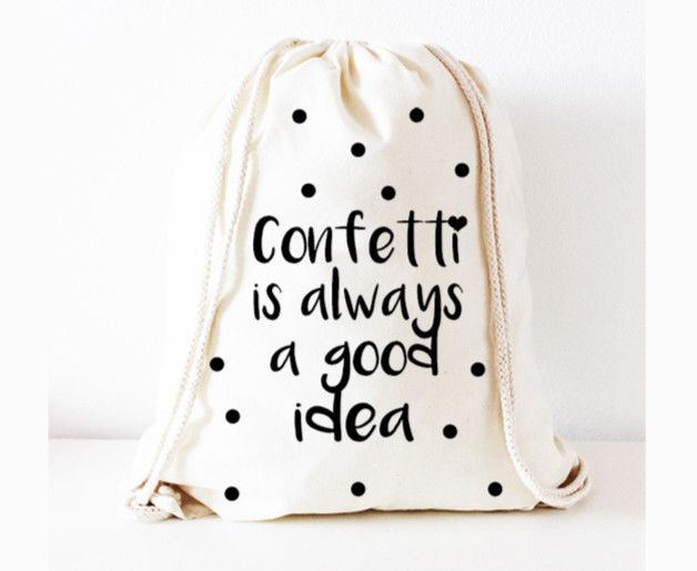"""Hipster Rucksack: Turnbeutel Konfetti geht immer für Dein Sommeroutfit / hipster backpack: gym bag """"Confetti is always a good idea"""" for your summer outfit made by KitschUndKrempel via DaWanda.com"""
