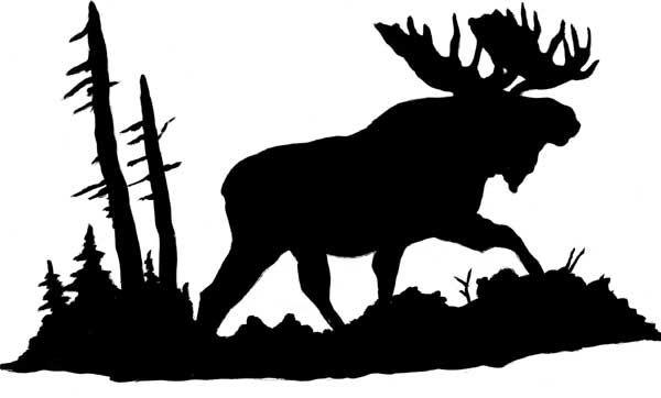 Moose Head Silhouette Moose 1