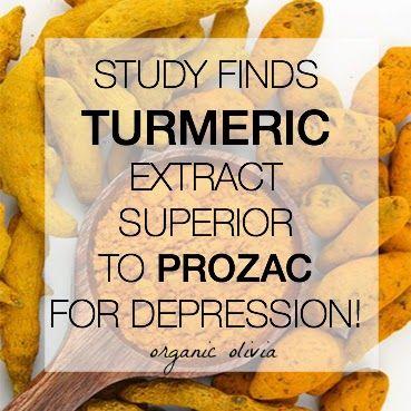 Study Finds Turmeric Extract SUPERIOR to Prozac for Depression! - Organic Olivia   Organic Olivia