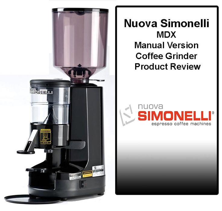 Nuova Simonelli MDX Manual Version Commercial Coffee Grinder Review