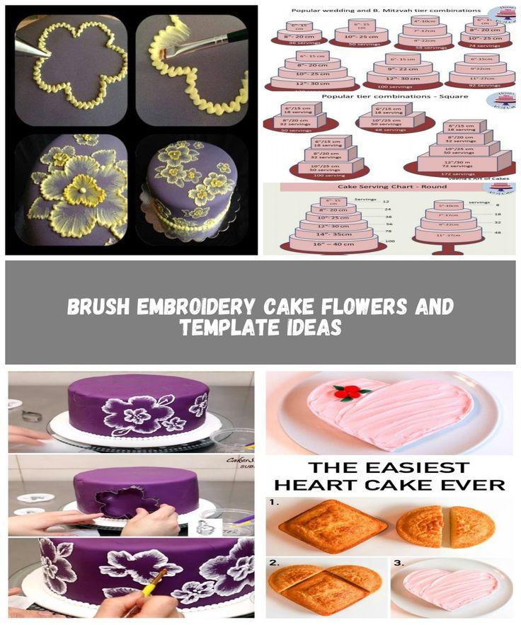 Pinselstickerei Kuchen Blumen und Vorlagen Ideen Kuchen dekorieren Pinselstickerei …   – modest-shorts