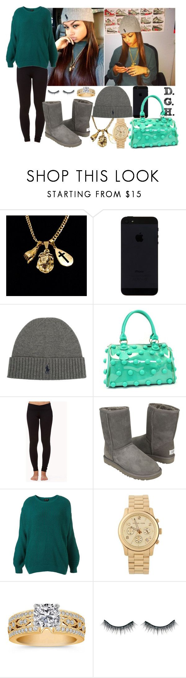 """""""Polo Warm."""" by dopegenhope ❤ liked on Polyvore featuring Polo Ralph Lauren, Forever 21, UGG Australia, Michael Kors and Bourjois"""
