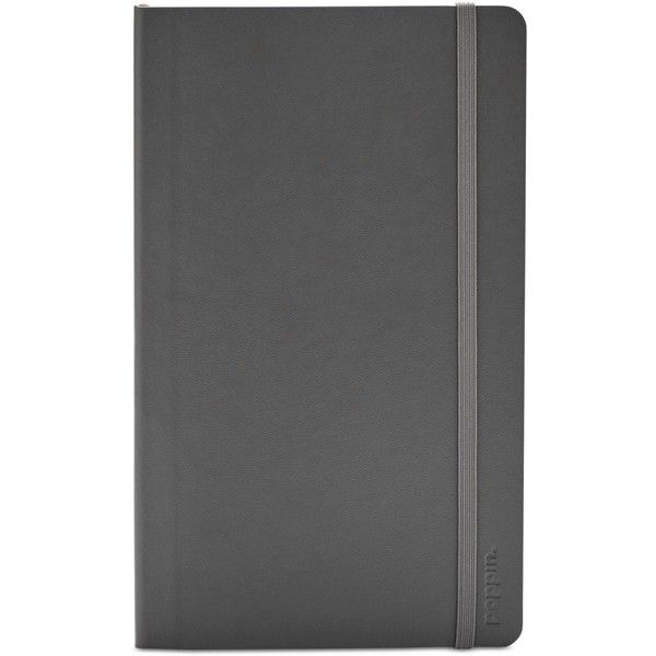 Poppin Medium Soft-Cover Notebook ($13) ❤ liked on Polyvore featuring home, home decor, stationery and dark gray