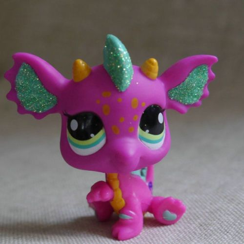 Details About Fushcia Dragon Green Eyes Action Figure Gift Lps