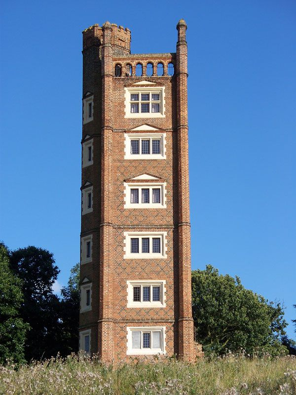 Freston Tower, a 'folly' near Ipswich, England;  estimated to have been built in the 1500s