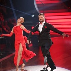 """Dancers compete during filming of RTL dance show """"Let's Dance"""" in Cologne, Germany"""