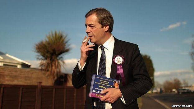 When you're Nigel Farrage and you're doing things typically associated with your politics and lifestyle