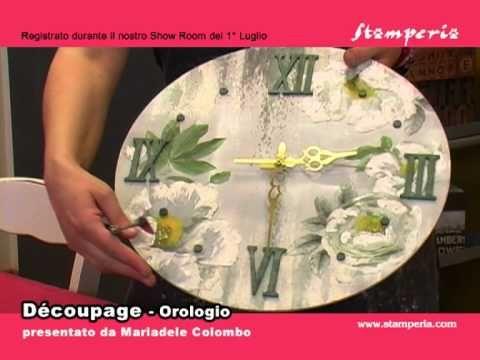 Découpage - L'orologio secondo Stamperia - YouTube