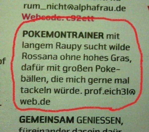 Fremdschämen für jeden Pokemon-Fan... der Typ ist Pokephil!