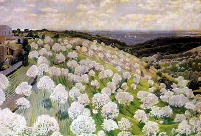 Almendros en Flor (Santiago Rusiñol Prats - Date unknown