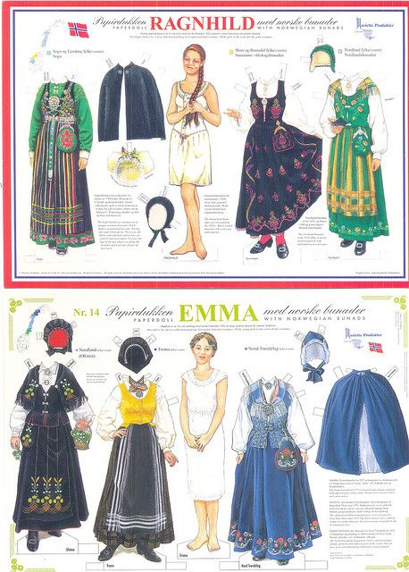 Paper doll Ragnhild no.8 and Emma no.14 | Flickr - Photo Sharing!