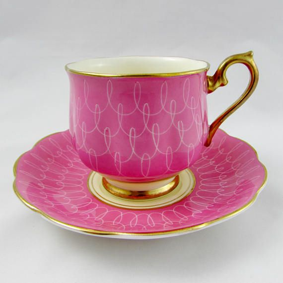 Royal Albert Pink Tea Cup and Saucer, Vintage Bone China, Hampton Shape