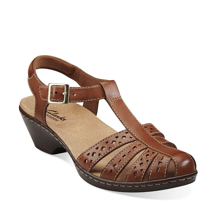 Wendy Lily in Tan Leather - Womens Sandals from Clarks