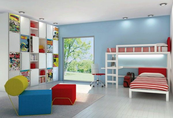 Children's idea of modern cabinet sofa blue red yellow