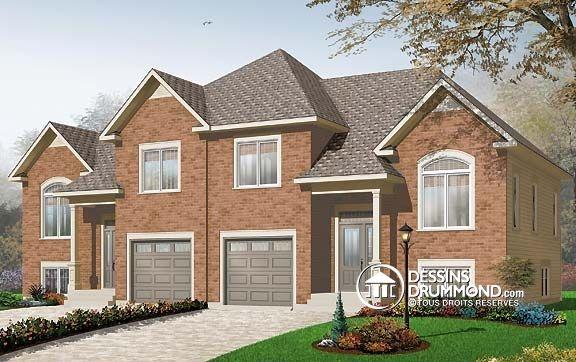 Beau jumel offrant garage plan no 3055 de dessins for Family home storage