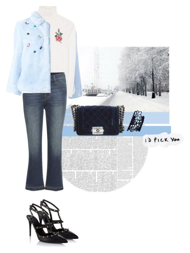 """Untitled #127"" by kryssicha on Polyvore featuring VIVETTA, Gucci, J Brand, Chanel and Valentino"