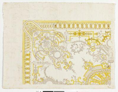 Teckning/ritning av tak, 1708.
