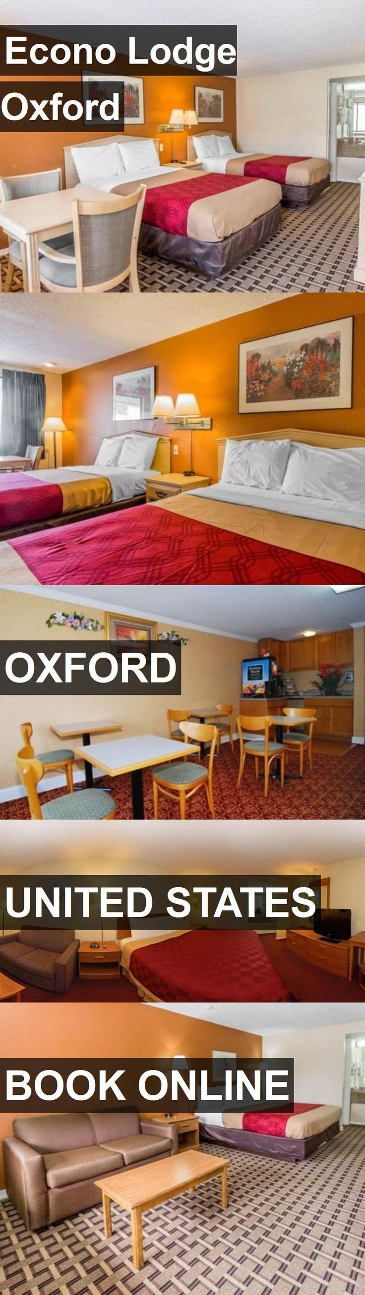 Hotel Econo Lodge Oxford in Oxford, United States. For more information, photos, reviews and best prices please follow the link. #UnitedStates #Oxford #travel #vacation #hotel