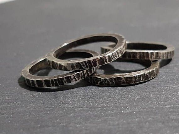 Check out this item in my Etsy shop https://www.etsy.com/listing/554923203/oxidized-silver-stacking-rings-stacking
