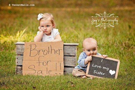 """""""Irmão à venda"""" """"Eu amo minha irmã"""""""