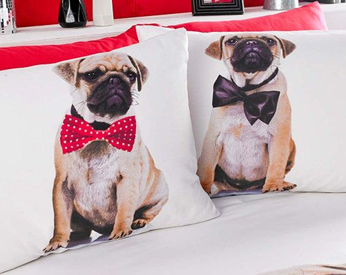 Pug Duvet Set - Double