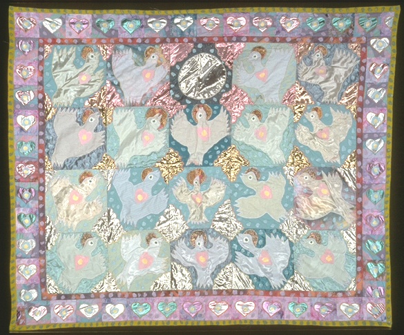 ©Therese May Studio Art Quilts: Baby Breath 68x79, 1995, $5,000