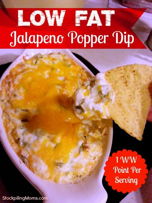 Only 1 WW Point in this delicious Low Fat Jalapeno Popper Dip and it is naturally gluten free!
