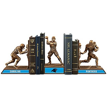 NFL Carolina Panthers Cold-Cast Bronze Legacy Bookends Collection