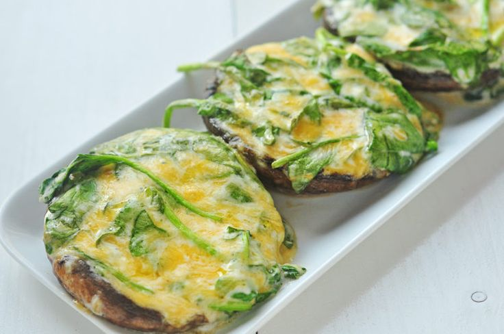 Grilled Spinach Stuffed Portobella Mushroom Tops - Skinny Ms.