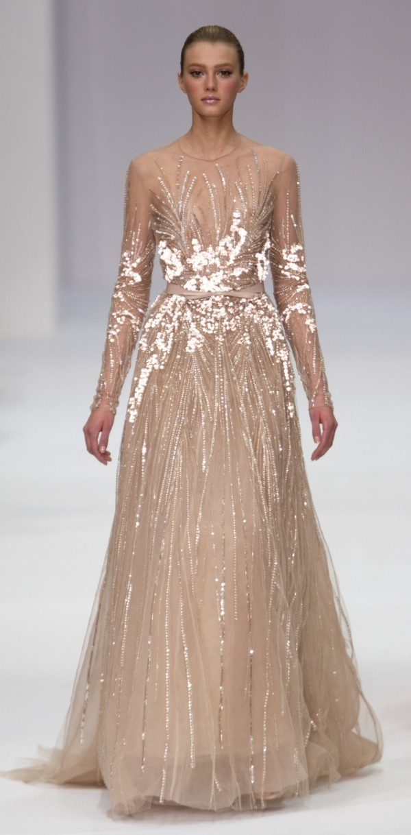 im kind of thinking I might want a nude wedding dress