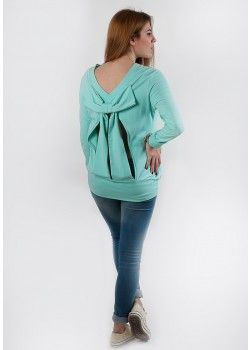 1977 By Social Chic Top with open back bow mint.