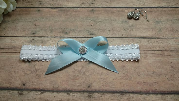 Garter, Blue Garter, Something Blue, Toss Garter, Wedding Garter, Brides Garter, Bride, Rhinestone Garter, Bride, Keepsake Garter by BloomsandBlessings on Etsy