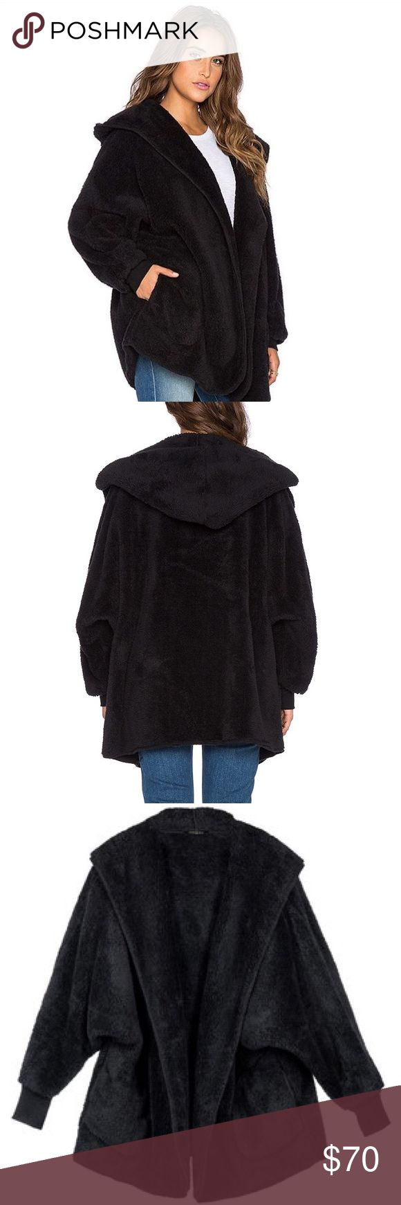 Whitney Eve Black Hooded Jacket Literally feels like you're wearing a blanket! Super comfortable but still stylish. Has pockets and a hood. Excellent condition. Runs a little big. Whitney Eve Jackets & Coats