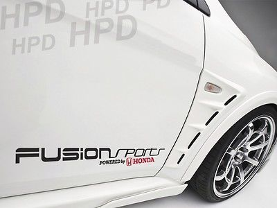 Fusion Sports Powered by Honda Car Decal Vinyl Sticker Civic S2000 Accord Si D