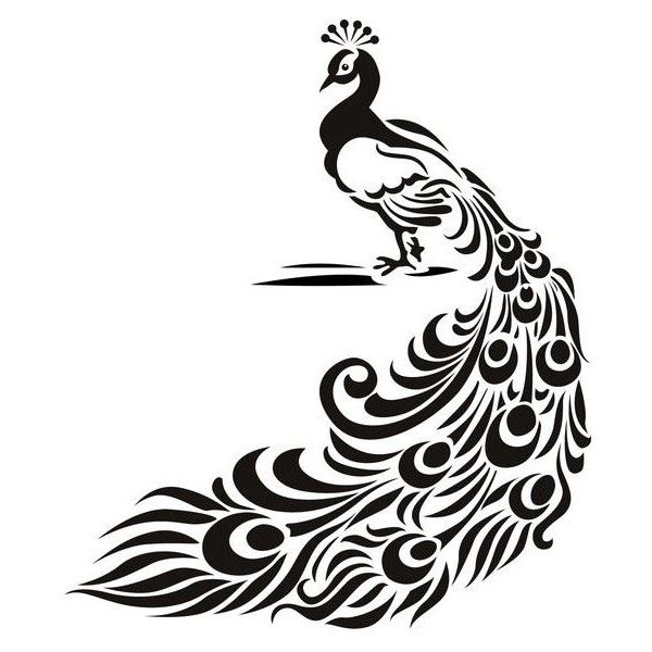 Peacock Bird Animal Wall Art Stickers Wall Decal Transfers | EBay ❤ Liked  On Polyvore Featuring