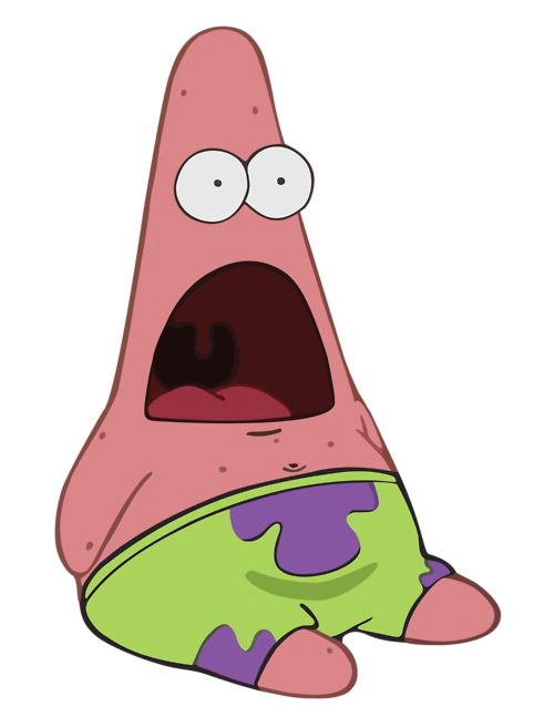 Patrick Gif Star Surprised Transparent Tumblr Girly