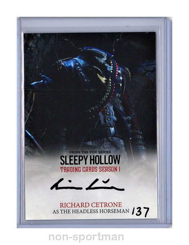 SLEEPY HOLLOW CRYPTOZOIC SEASON 1 AUTO RC RICHARD CETRONE
