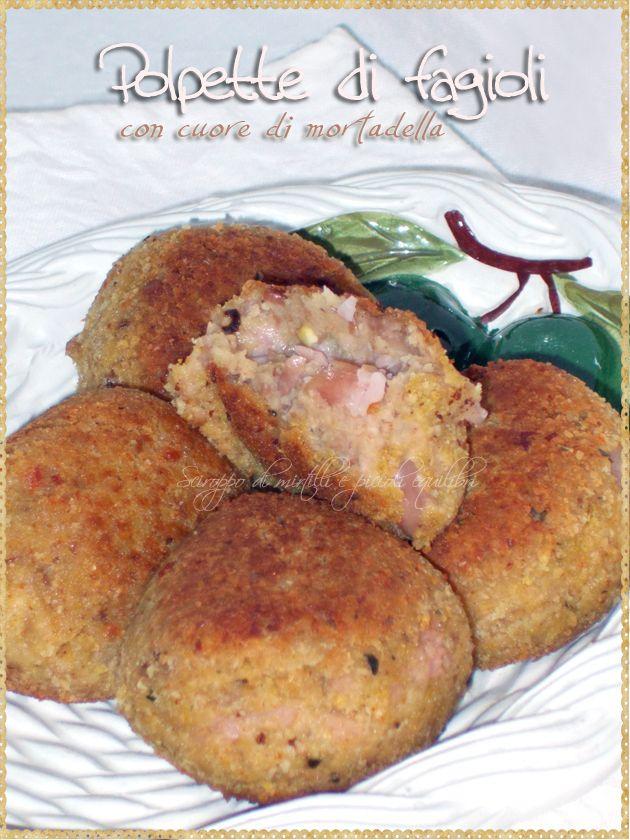 Polpette di fagioli con cuore di mortadella (Meatballs with beans  and mortadella)