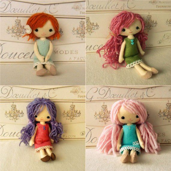 I will be making the cute one on the top Left..with flower in hair of course!