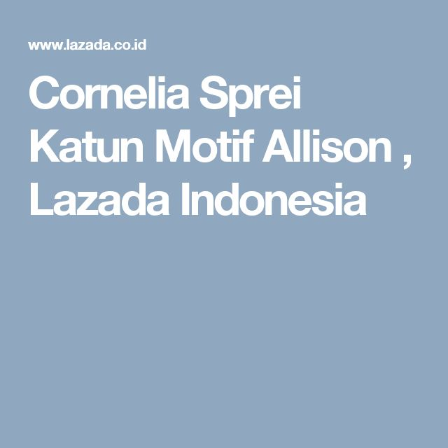 Cornelia Sprei Katun Motif Allison , Lazada Indonesia