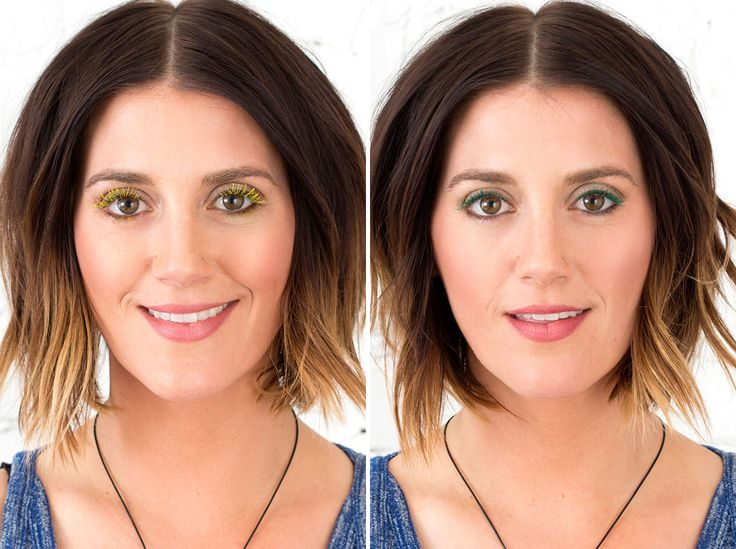 2 Ways to Make DIY Colored Mascara - I KNEW that old mascara wand and mysterious bottle of lash primer had greater potential!