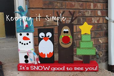 Keeping it Simple: Christmas 2x4 porch decoration