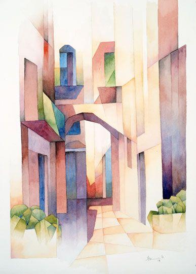 Pyrgi Chios, 2006, Aquarell, 51 x 36 cm