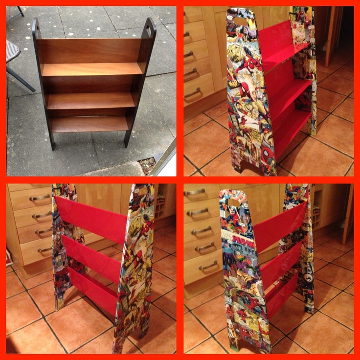 comic bookcase i am in the process of updating my toddlers bedroom