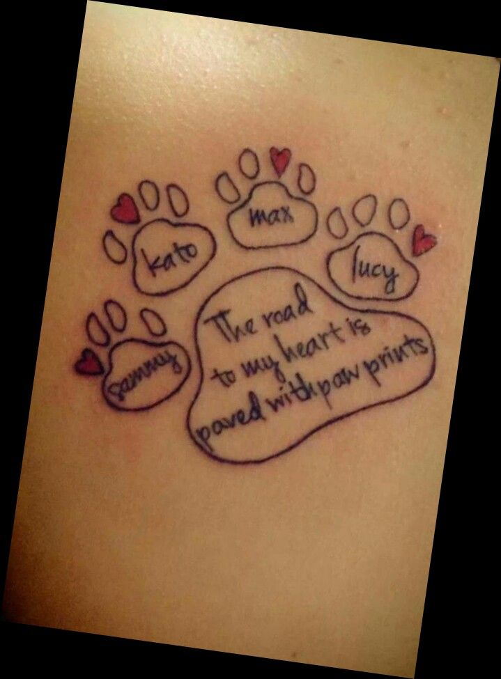 Paw Prints with names etc cute