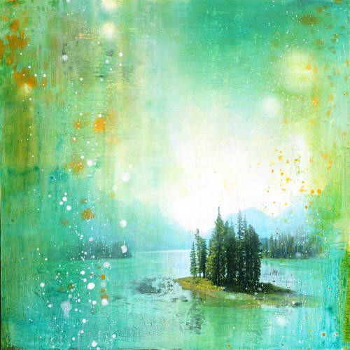 """Steven Nederveen HUDDLED UNDER A MAGNIFICENT SKY / Canada House Gallery - mixed media, resin, panel 30"""" x 30"""""""