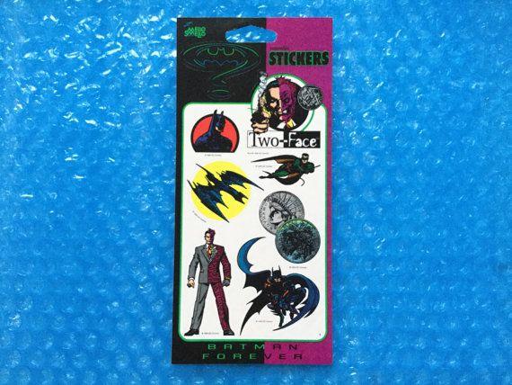 1994 Batman Sticker Set New DC Comics Batman by RetroPixelsAndToys bde6a4753b12