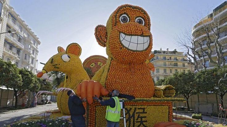 Фестиваль лимонов во Франции